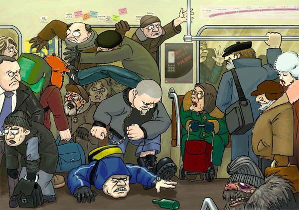 станция метро выхино, час пик