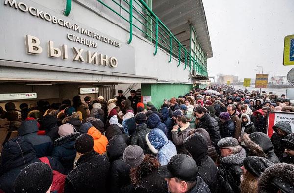 метро выхино в час пик